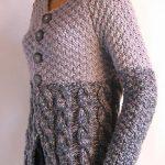 Gilet tricoté main femme