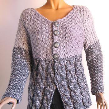 comment tricoter une veste pour femme laine et tricot. Black Bedroom Furniture Sets. Home Design Ideas