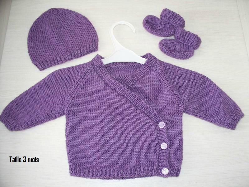 modele de brassiere bebe a tricoter gratuit