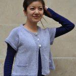Modele tricot gilet femme manche courte