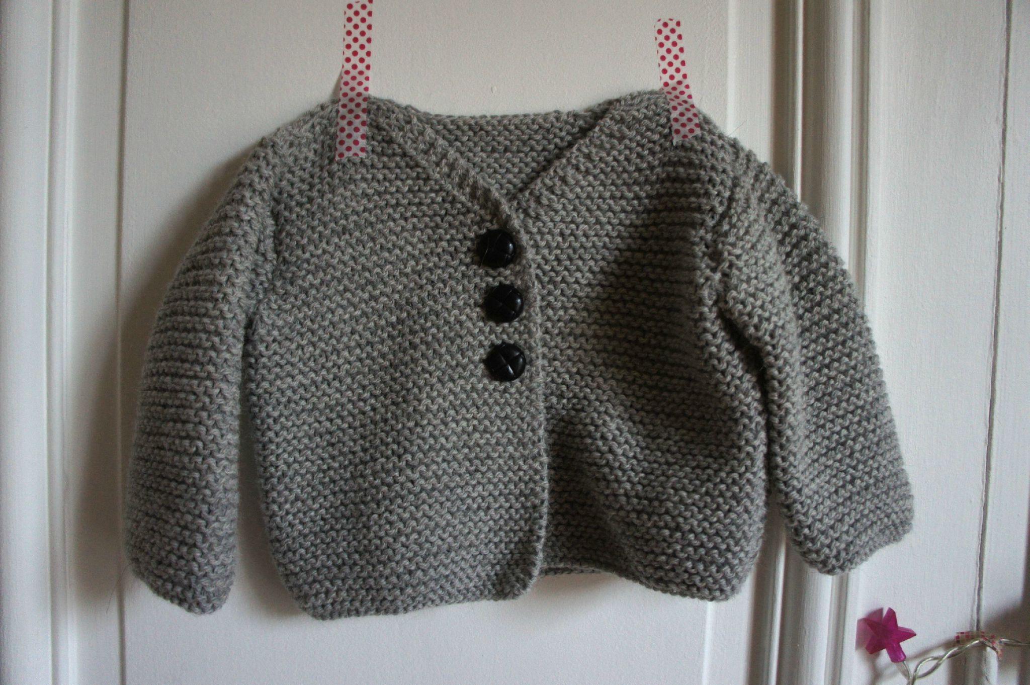 tricoter un gilet pour bebe
