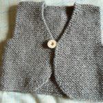 Modèle veste bébé tricot