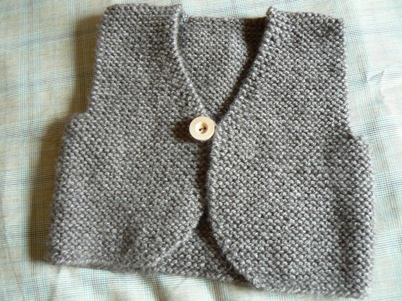 modele gilet bebe tricot