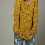 Pull femme tricoté main