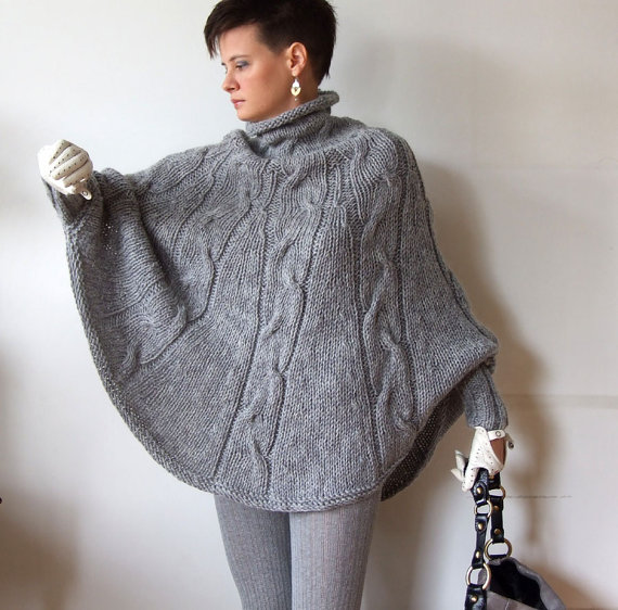 modele de poncho a tricoter pour femme