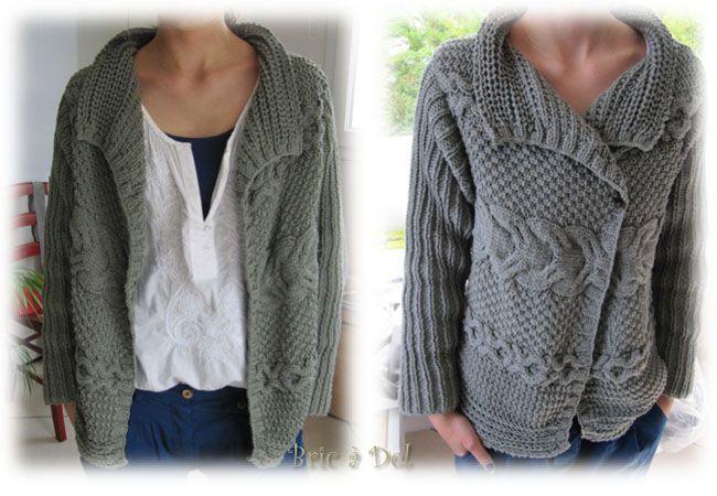 modele gilet grosse laine laine et tricot. Black Bedroom Furniture Sets. Home Design Ideas