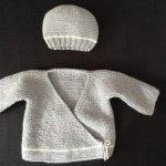 Gilet nouveau né tricot