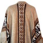 Poncho homme laine
