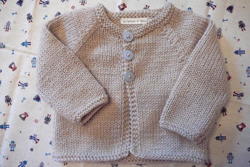 f5de21d6ef73d Gilet a tricoter pour bebe garcon - Laine et tricot