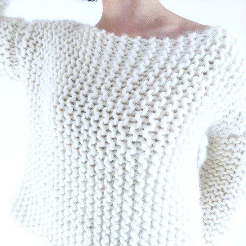 tricoter un pull facile d butant laine et tricot. Black Bedroom Furniture Sets. Home Design Ideas