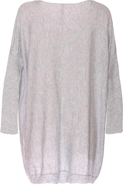 pull long gris femme laine et tricot. Black Bedroom Furniture Sets. Home Design Ideas