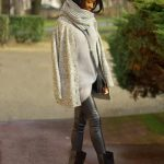 Gilet en laine grosse maille femme