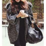 Manteau laine capuche