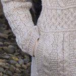 Manteau en laine tricotée femme