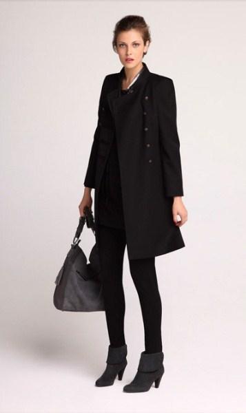 manteau laine noir femme laine et tricot. Black Bedroom Furniture Sets. Home Design Ideas