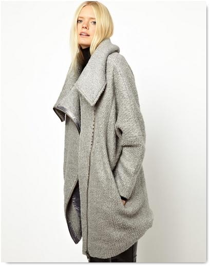 Manteau en maille femme
