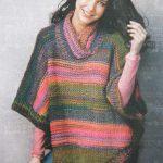 Tricoter un poncho pour femme