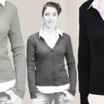 Gilet laine noir femme