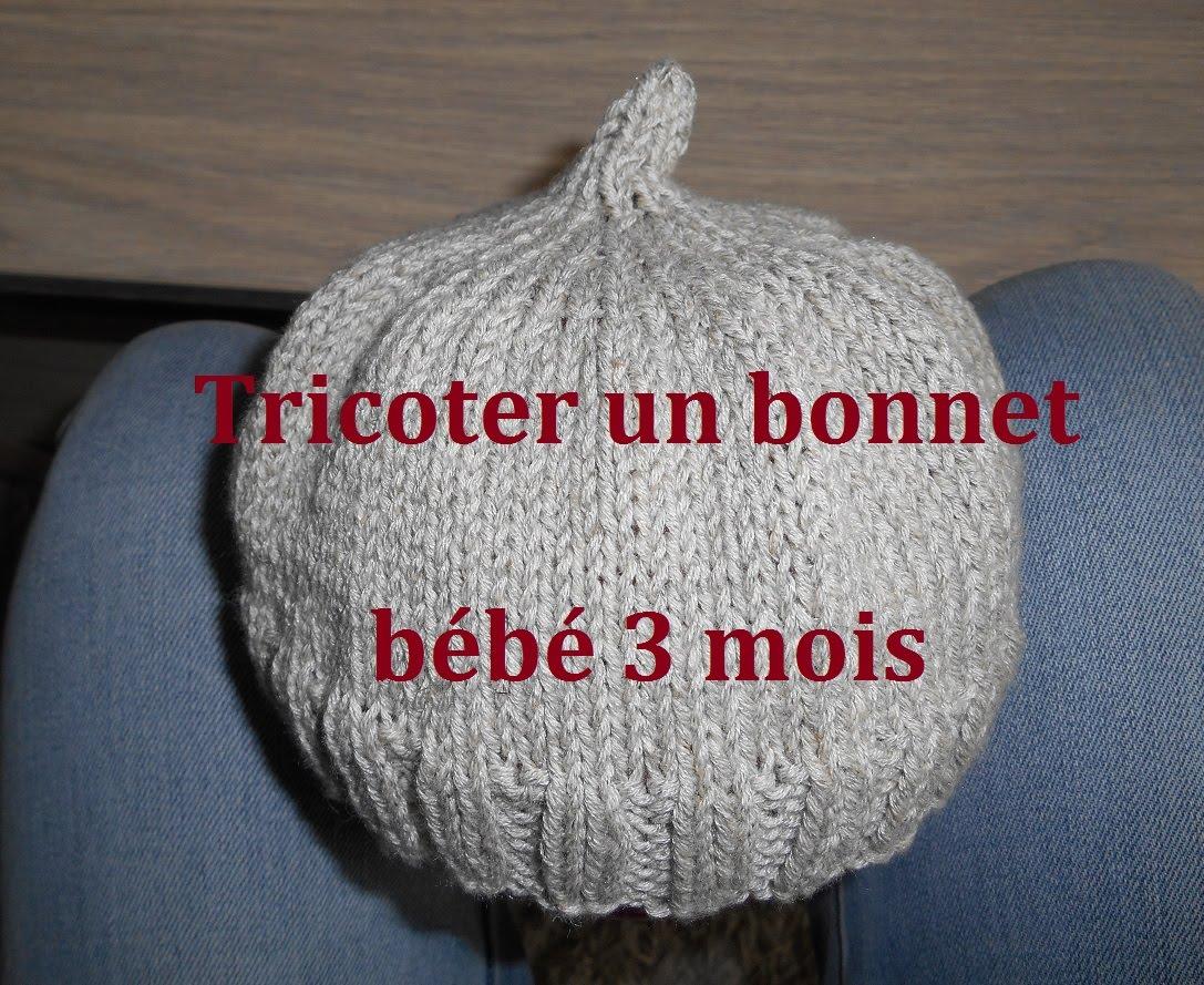 74f384f1e68 Tricoter bonnet bébé naissance facile - Laine et tricot