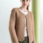 Gilet à tricoter femme
