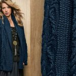 Modele tricot veste femme col chale