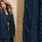 Gilet col chale femme a tricoter