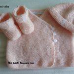 Gilet bébé fille 1 mois