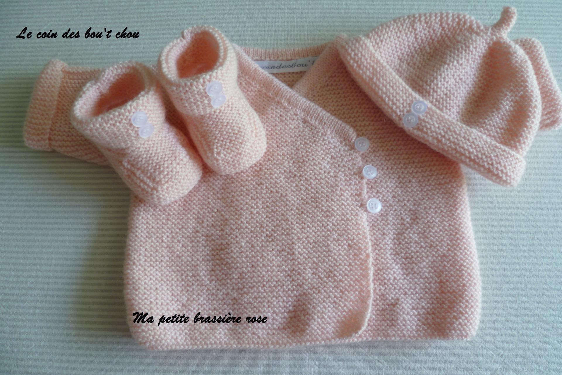 ae4290800f28e Gilet bébé fille 1 mois - Laine et tricot