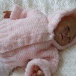 Manteau tricot bébé