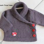 Gilet bébé fille a tricoter