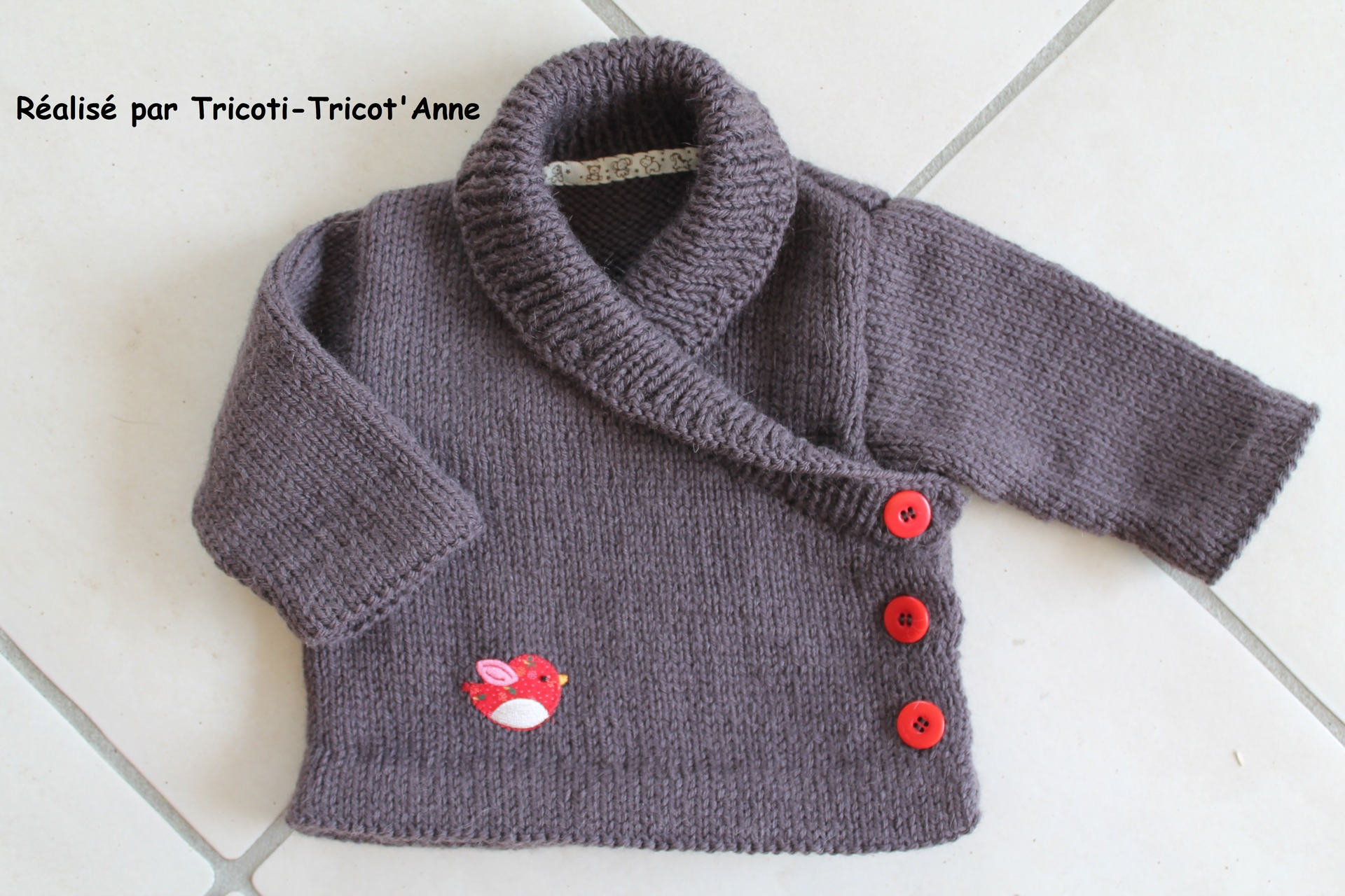 pull bebe garcon a tricoter