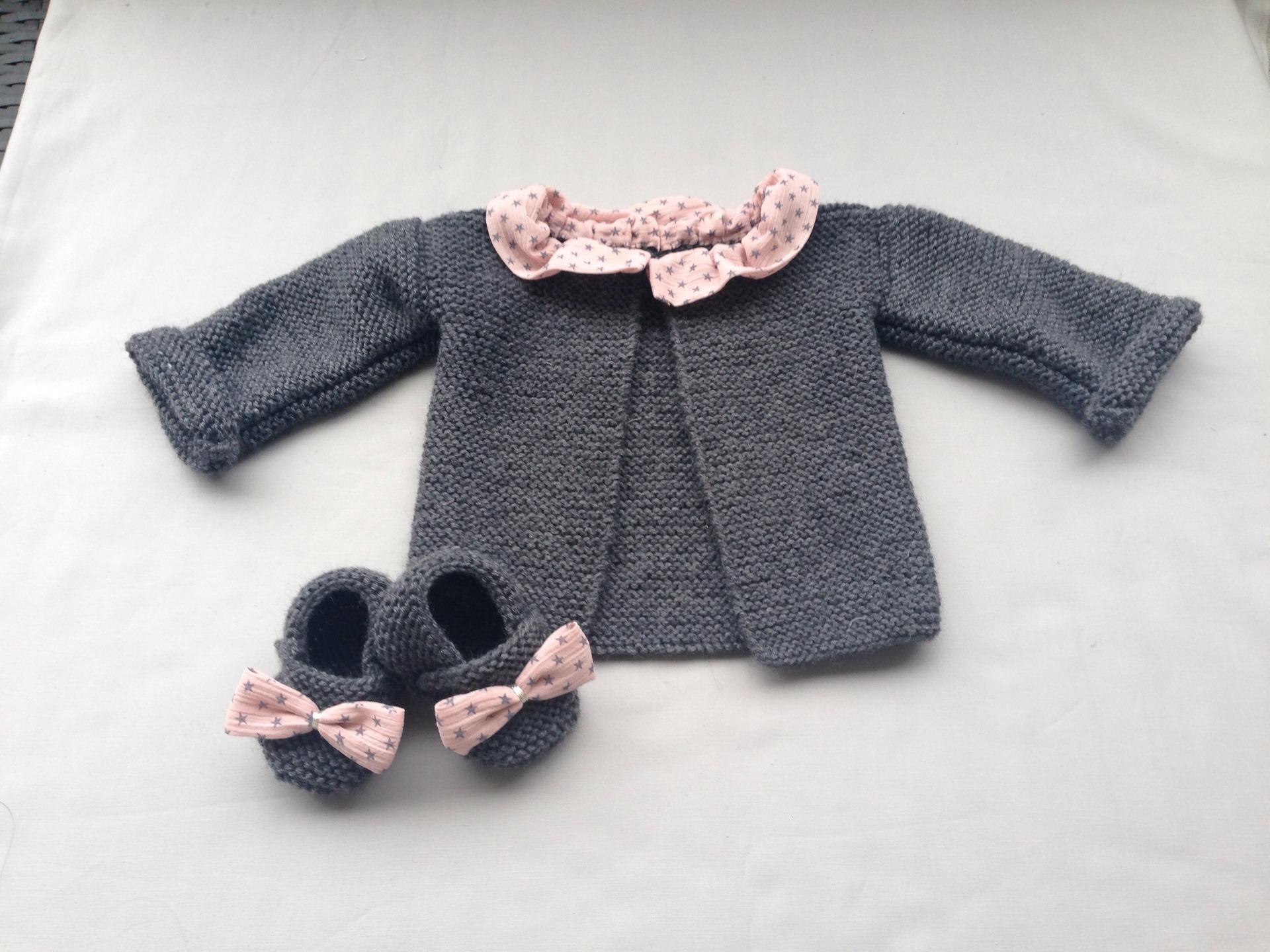 7740e9b6a206a Brassiere naissance fille - Laine et tricot
