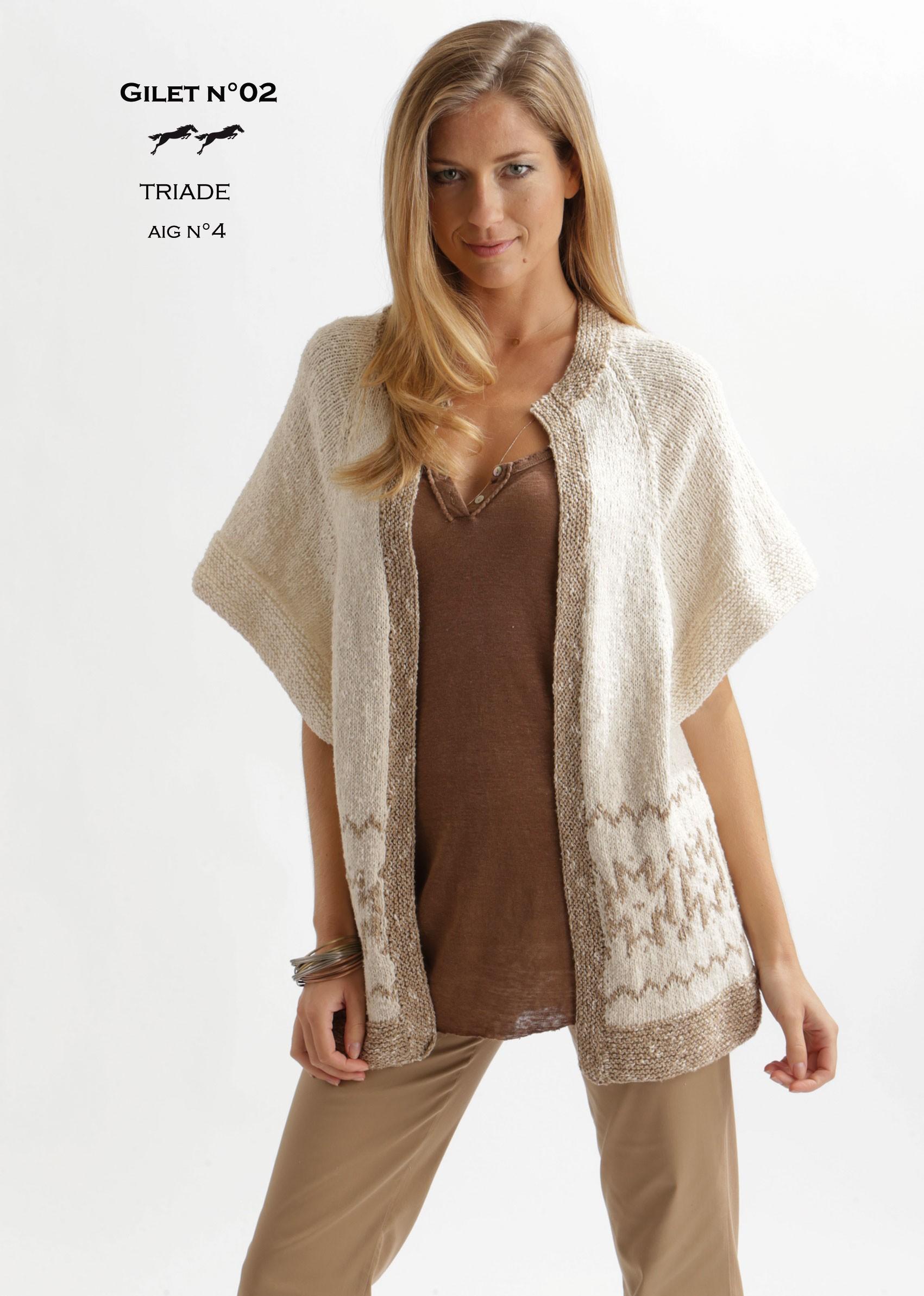 modele tricot gratuit gilet femme