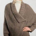 Cape a tricoter pour femme