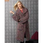 Modele de manteau en laine a tricoter
