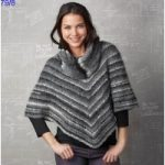 Modele poncho tricot gratuit femme