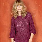 Pull ajouré femme à tricoter