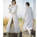 Manteau en tricot femme