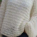 Pull facile à tricoter pour femme gratuit