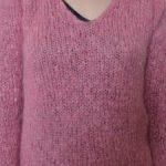 Modele tricot gratuit pull femme col v