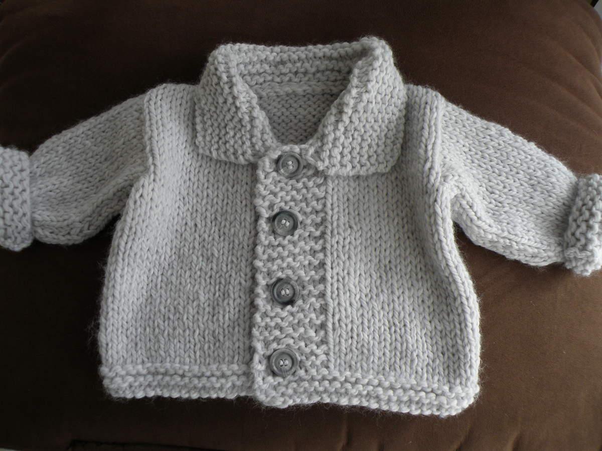 Exceptionnel Tricot gilet bébé facile gratuit - Laine et tricot HQ17