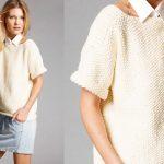 Modele pull a tricoter facile