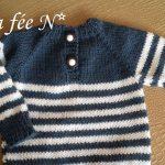 Pull bébé garçon à tricoter
