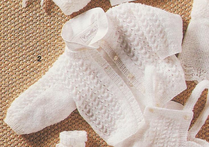 Mod le tricot layette naissance laine et tricot - Cote 2 2 tricot ...
