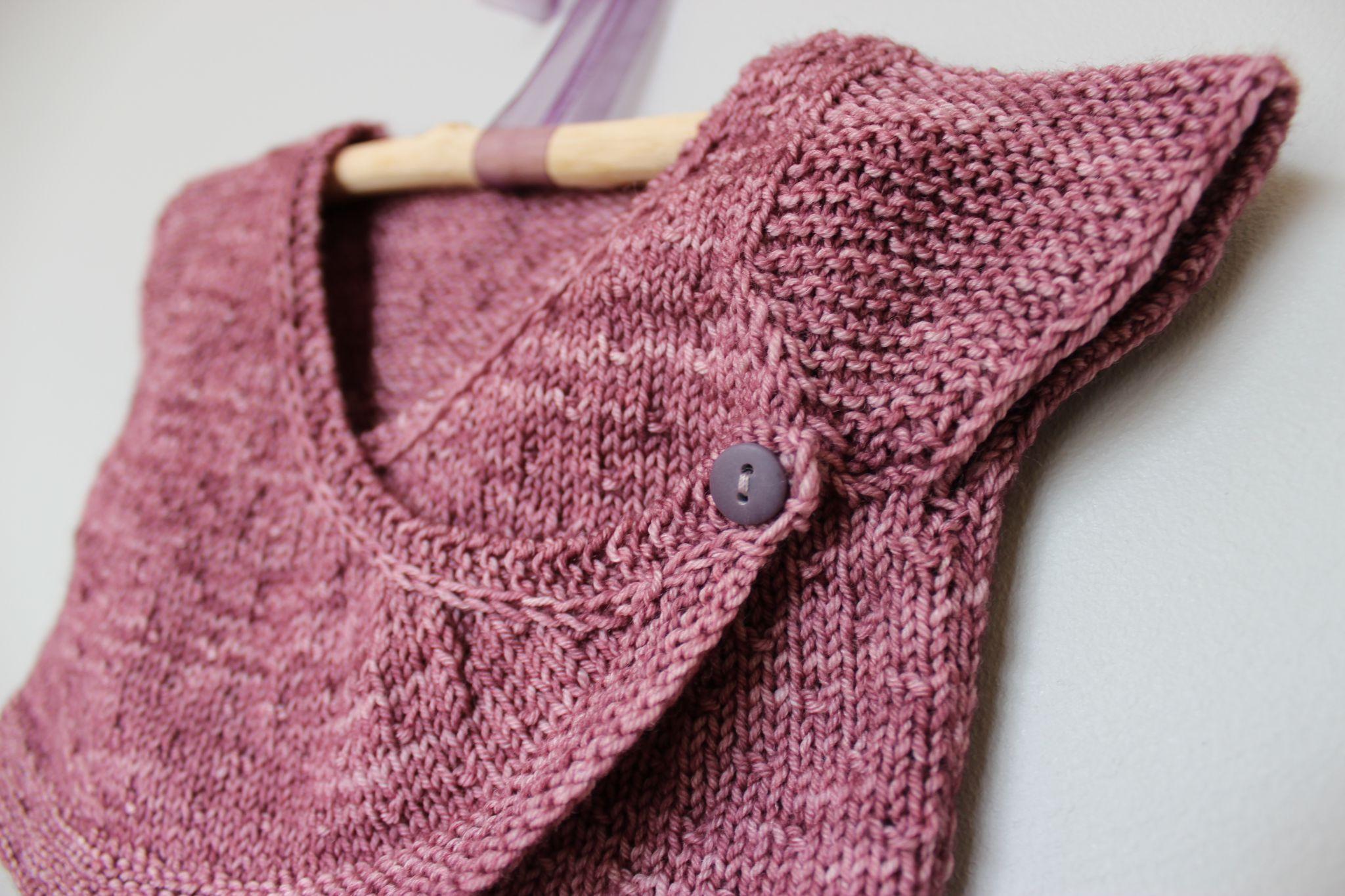 modele cache coeur tricot fillette