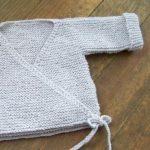 Brassière laine bébé à tricoter