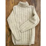Pull col roulé femme laine