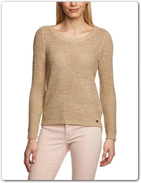 pull beige femme laine et tricot. Black Bedroom Furniture Sets. Home Design Ideas