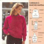 Explication pull femme tricoté main