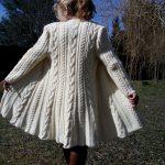 Gilet long tricot femme